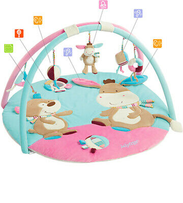 babyFehn 3-D-Activity-Decke Esel Monkey Donkey