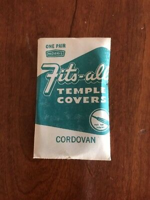 Vintage Fits-All Temple Covers 2 Brown Cordovan Color NOS Ray Ban Unused Pair