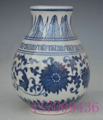 Chinese Blue and White Porcelain Handmade Jar Pot Cans Jug Tank