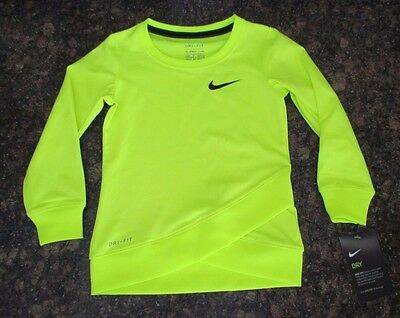 NEW NIKE DRI-FIT Girls Crossover Volt Long Sleeves T-Shirt Sz. 2T