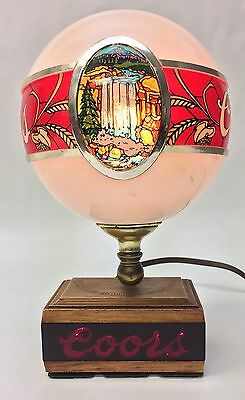 Coors Beer Vintage Globe Lamp Man Cave Light Art Milwaukee, Wisconsin