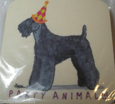 Kerry Blue Terrier Party Animal Coasters Set 4 by Zeppa Studios