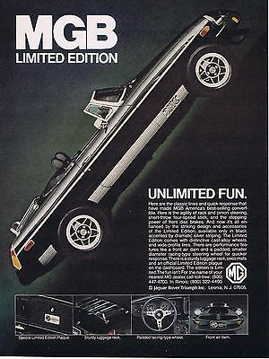 1979 Advertisement - MGB LIMITED EDITION