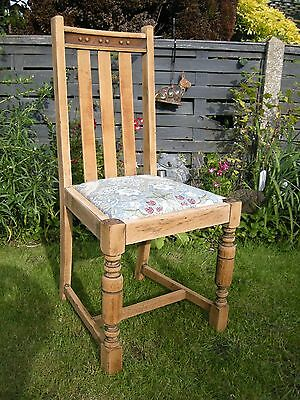 Edwardian  Arts and Craft WILLAM MORIS Dining-Side-Hall-Arm Chair  LIGHT OAK