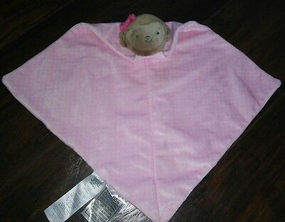 Plush Girl Rattle Carters Just One You Monkey Baby Security Blanket Lovey Pink