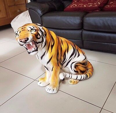 Rare Tiger Statue - Large - Good Condition - Fierce!