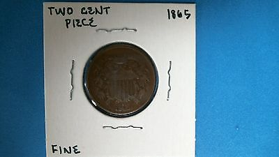 1865 Two Cent Piece United States