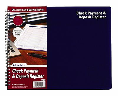 Check Payment and Deposit Register, , 8.5 x 11 Inches, White (AFR60)