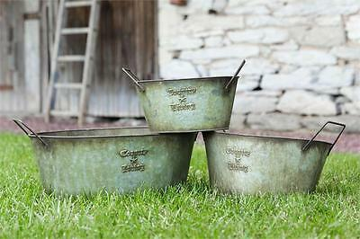 New Primitive COUNTRY LIVING DIVIDED BUCKET Holder Rustic French Vintage Star