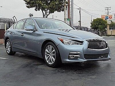 2015 Infiniti Q50 a 2015 Infiniti Q50 Sedan Damaged Salvage Loaded w Options Luxurious Nice Color!!