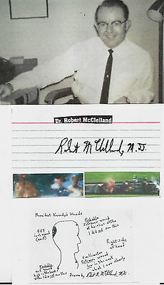 Dr. Robert Mcclelland-Jfk Conspiracy/genuine Hand Signed Autograph With Pictures