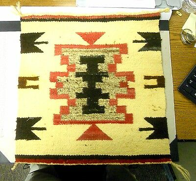 Very Rare Miniature All Original Native American Vintage Rug.