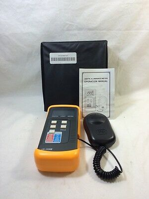 Digital Illuminance Meter, LX-1130B, NEw Open Box, Tested, E063 *