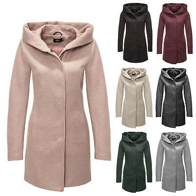 Only Damen Übergangsmantel Kurzmantel Damenmantel Kapuzenjacke Color Mix NEU