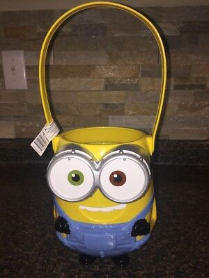 Halloween Figural/Character Plastic Treat Bucket Despicable Me Minion New