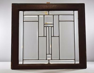 Arts & Crafts Clear Beveled Windows Frank Lloyd Wright Style 4 Available