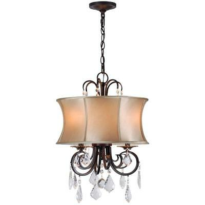 World Imports Annelise 3-Light Bronze Convertible Chandelier WI8853-89