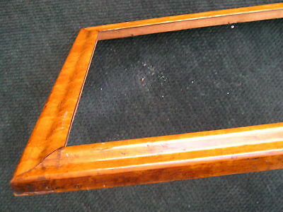 Antique Victorian Birdseye Maple~Picture Frame Aged w Square Nails 16 1/2 x 22