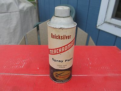 Rare 1960s Mercury Outboard Merchromatic Spray Paint Quicksilver 'Cloud White'