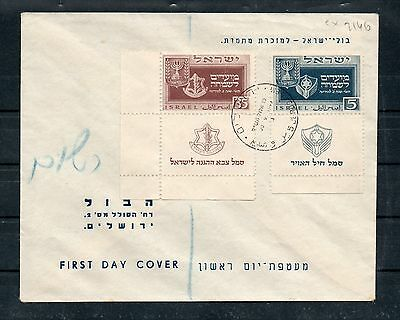 Israel Scott #28-30 New Year Tab Set on Two First Day Covers!!!