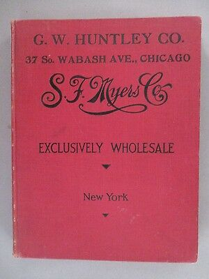 S.F. Myers CATALOG - 1912 ~~ clocks, jewelry, watches, etc; 416 pages