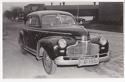 1941 Chevrolet Master Deluxe* - Vintage Car Dealer Rppc - Indiana Plate 779973