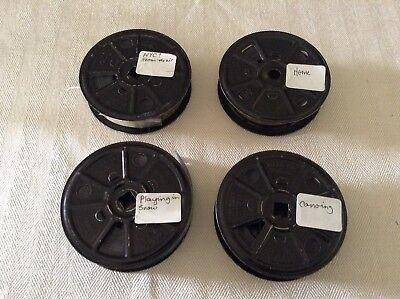 Lot Of 4 Reels 16mm BW Home Movies Amateur Vintage Canoeing Family Aerial Snow