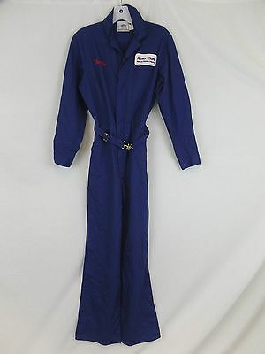 Vintage 70s Riverside Leisure Jumpsuit One Piece Coveralls Navy USA Size 25x29