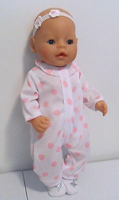 """BABY BORN DOLL (16"""") ZAPF with BLUE EYES & LONG BLACK EYELASHES + ACCESSORIES"""