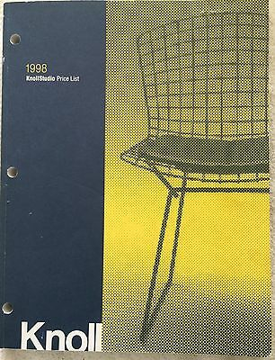 Knoll 1998 Knoll Studio Price List * 247 pages