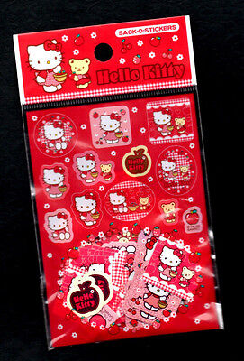 Vintage Sanrio Hello Kitty Sticker Sack o stickers flakes Friends Apple