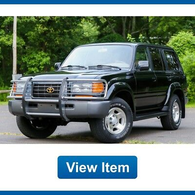 1996 Toyota Land Cruiser Base Sport Utility 4-Door 1996 Toyota Land Cruiser 4WD 3rd Row Seat FJ80 Brush Guard California Car