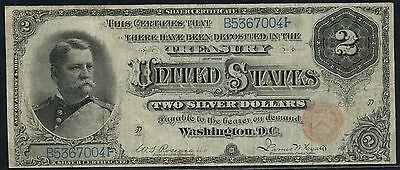 "Fr241 $2 1886 S/c ""hancock"" Note (Only 169 Recorded) Hw3084"