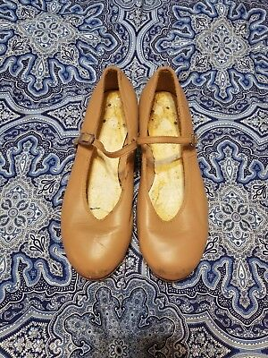 Womens BLOCH Tan Tap shoes size 5.5 6 Dance Competition