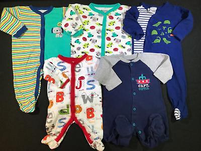 Baby Boy 3, 3-6 Months Cotton Sleeper Pajama Clothes Lot Free Shipping B75