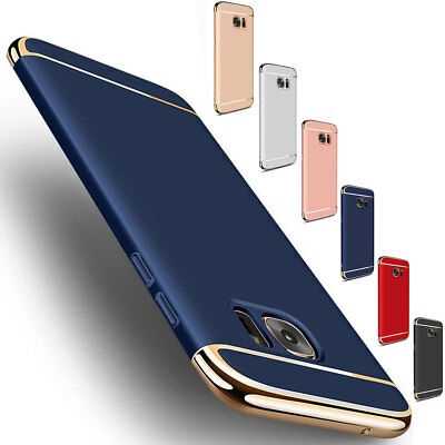 For Samsung Galaxy S6 Edge Luxury Shockproof Rugged Plated Hard Case Cover Blue