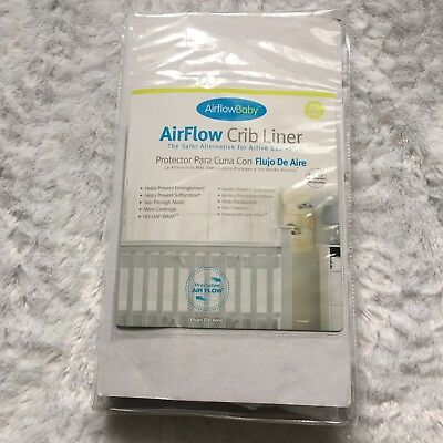 NEW Breathable AirFlow Baby White Mesh Crib Liner bumper nursery bedding lining