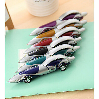 Portable Car Design Racing Car Shape Ballpoint Pen Office Child Kid Toy Gift Hot