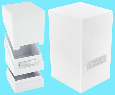 ULTIMATE GUARD MONOLITH WHITE DECK CASE 100+ New Card Dice Tower Storage Box