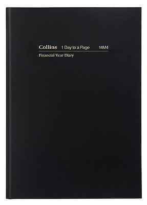 Diary Collins Financial 14M4 A4 Day To A Page 30 Minute Black F2017/2018