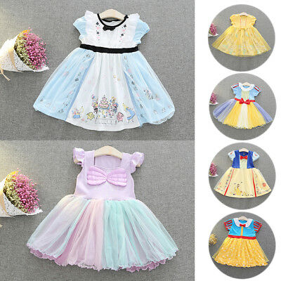 Baby Kids Girls Summer Princess Tutu Dress Cartoon Fancy Dresses Cosplay Clothes