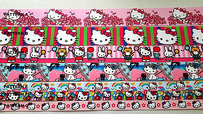 Hello Kitty printed grosgrain ribbons 10mm, 22mm and 25mm wide 2 METRES