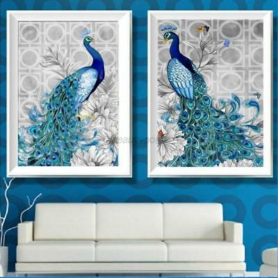 DIY Diamond Painting Flower Peacock Embroidery Cross Crafts Stitch Home Decor