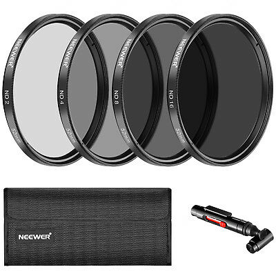 Neewer 52MM Neutral Density ND2 ND4 ND8 ND16 Filter and Accessory Kit for Nikon