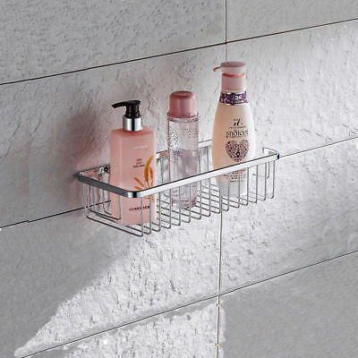 HEAVY METAL WALL Mounted Bathroom Shower Caddy Shelf Storage Rack ...
