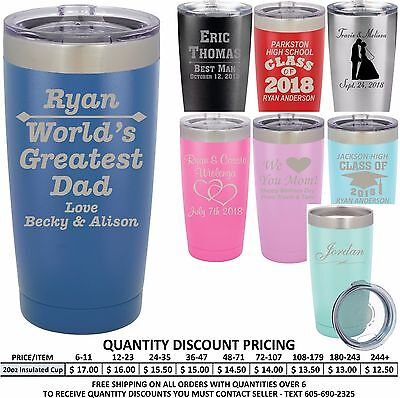 Personalized Vacuum Insulated Cups Custom Fathers Day Gifts Tumblers