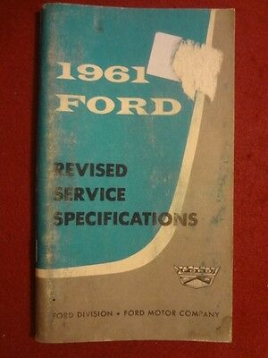 1961 Ford Car-Truck Pocket Service Specifications Booklet-Original not a Reprint