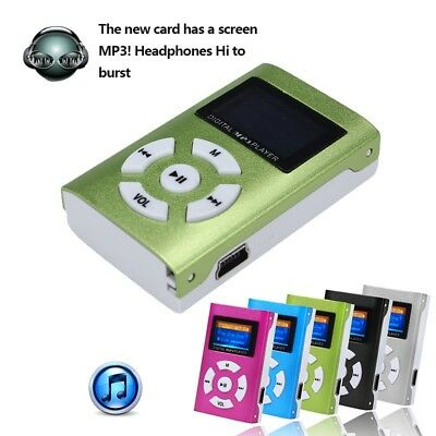 MP3 Stereo Music Player With Digital LCD Screen Clip Support 32GB Micro SD Card