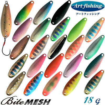 Art Fishing Bite Mesh 18 g Trout spoon Assorted Colors