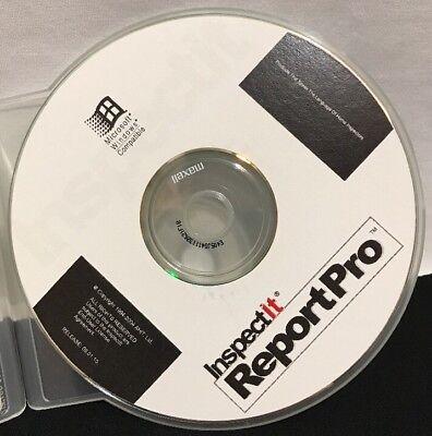 InspectIt Report Pro Home Inspection Reporting Software Microsoft Win 2004 CD